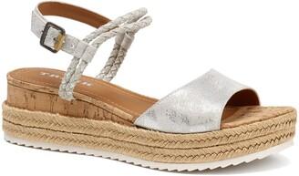 Trask Christine Metallic Espadrille Platform Sandal
