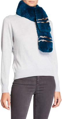 Adrienne Landau Pounched Fur Scarf