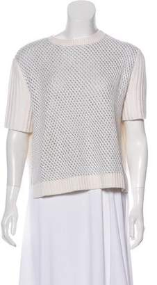 Reed Krakoff Short Sleeve Knit Sweater