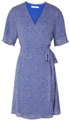 Gestuz Clover Printed Georgette Wrap Dress
