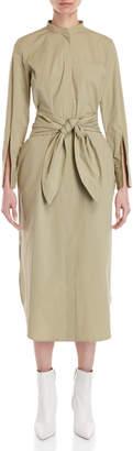 Cavallini Erika Belted Split Sleeve Midi Dress