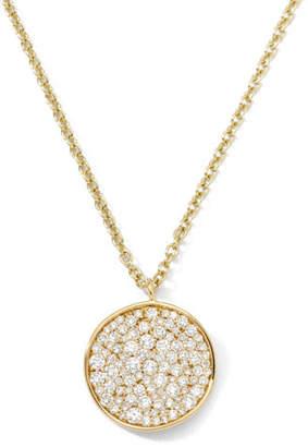 Ippolita Stardust 18k Diamond Disc Pendant Necklace