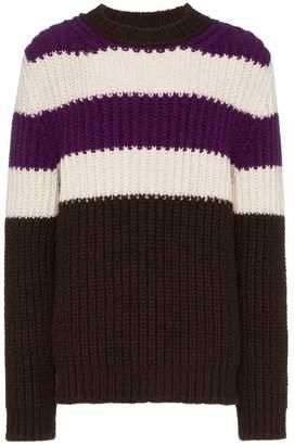 Calvin Klein horizontal stripe chunky jumper