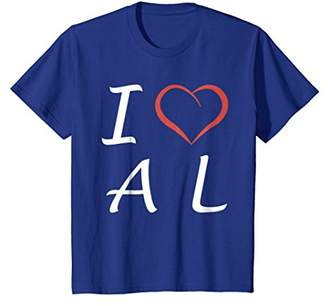 I love AL Alabama T-shirt Tee Tees T Shirt Tshirt
