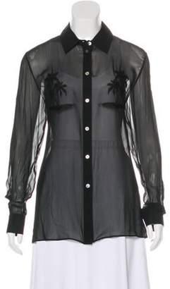 Alexander Wang Embroidered California Blouse Black Embroidered California Blouse