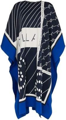 Stella McCartney logo knitted cotton blend poncho