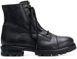 AGL zip lace-up boots