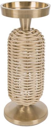 A By Amara A by Amara - Wicker Weave Pillar Candle Holder - Small