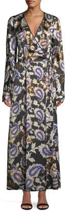 Forte Forte Silk Afrika-Print Long-Sleeve Wrap Dress