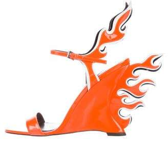 Prada 2018 Flame Neon Sandals