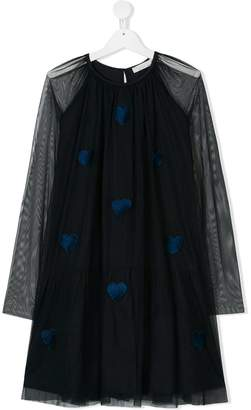 Stella McCartney TEEN long-sleeve embellished dress