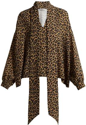 Balenciaga Leopard print oversized top