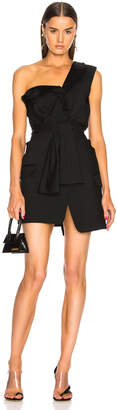 Alexander Wang Deconstructed Tie Front Tuxedo Dress
