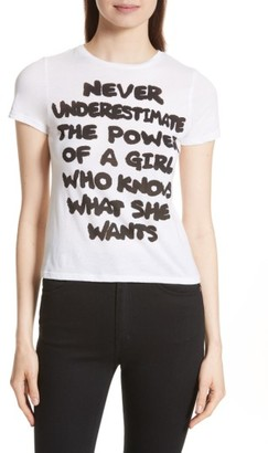 Women's Alice + Olivia Cicely Never Underestimate Communi-T Tee $125 thestylecure.com