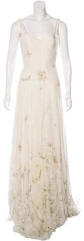 Alexander McQueenAlexander McQueen Silk Meadow Print Gown