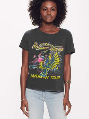 Madeworn MadeWorn The Rolling Stones American Tour Crop Tee - Black Pigment