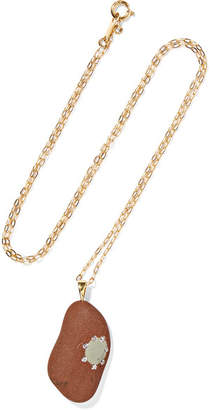 Cvc Stones 18-karat Gold, Stone And Diamond Necklace