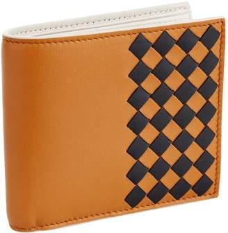 Bottega Veneta Intecciato Check Bifold Wallet