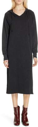 Rag & Bone JEAN Acid Wash Hooded Midi Dress