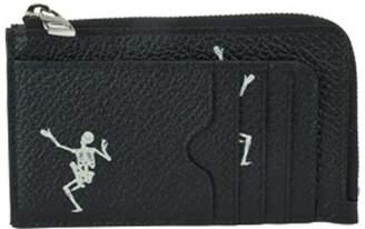 Alexander McQueen Dancing Skull Large Zip Coin Cards Holder