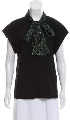Louis Vuitton Short Sleeve Embellished Top