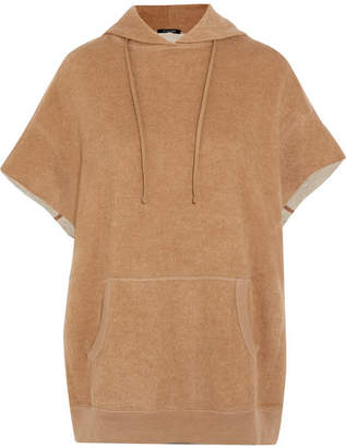 R 13 Cotton And Camel-blend Hooded Top