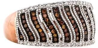 Brown Diamond Wave Ring
