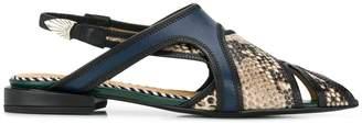 Toga Pulla snakeskin effect sandals