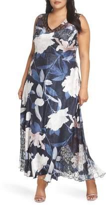 Komarov Lace-Up Maxi Dress