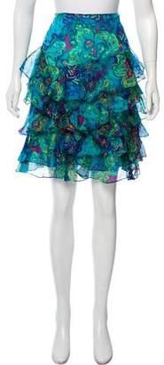 Ralph Lauren Silk Floral Skirt