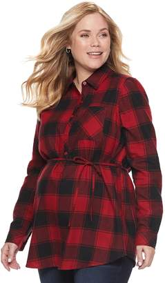 A Glow Maternity a:glow Flannel Shirt