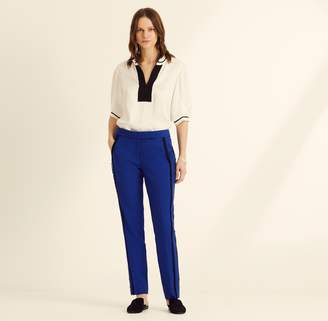 122322abd798 Amanda Wakeley Slim Leg Cobalt Trousers