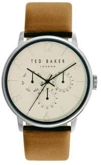 Ted Baker James Chronograph Stainless Steel Leather Strap Watch