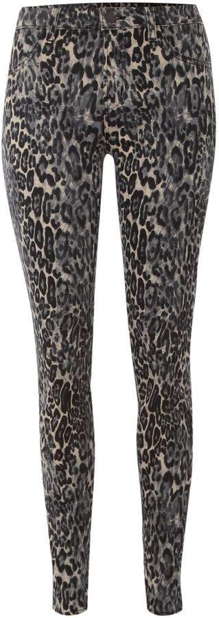 Women's J Brand Mid rise leopard print legging jeans