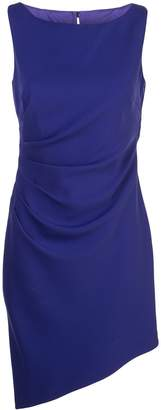 Milly ruched asymmetric dress