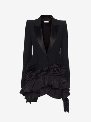Alexander McQueen Asymmetric Ruffle Jacket