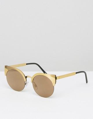 Monki Metal Cateye Sunglasses