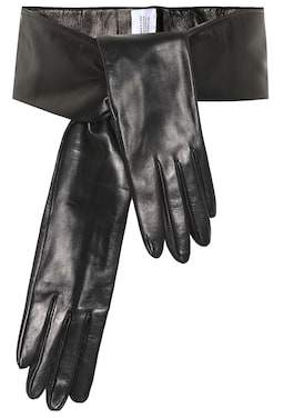 Vetements Leather gloves belt
