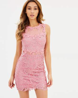 Missguided Lace and Mesh Body-Con Dress