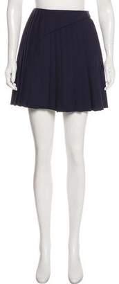 Christian Dior Wool Pleated Mini Skirt