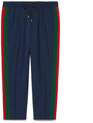 Gucci Wool cropped pant with stripe