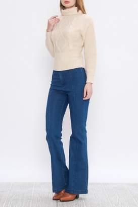 A. Calin Cableknit Turtleneck Sweater
