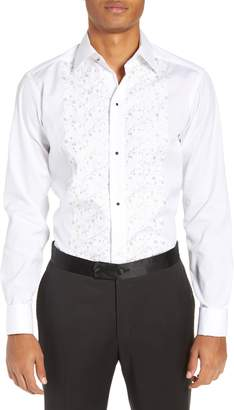 Eton Slim Fit Embroidered Tuxedo Shirt