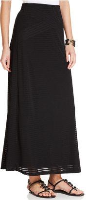 ECI Ribbed A-Line Maxi Skirt $60 thestylecure.com