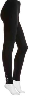 Via Spiga Button Cuff Leggings - Women's