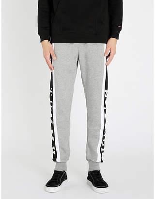 Tommy Hilfiger Logo-striped jersey jogging bottoms
