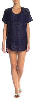J Valdi Crochet Mesh Tunic Cover-Up