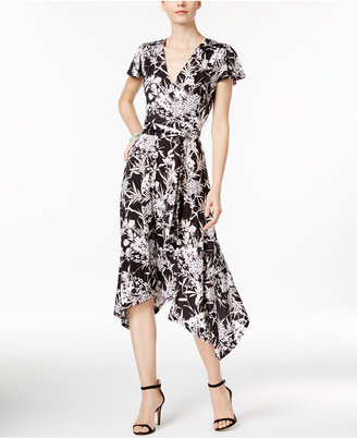 INC International Concepts Printed Wrap Dress, Only at Macy's $89.50 thestylecure.com