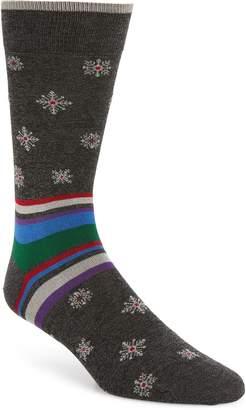 Bugatchi Snowflake Mercerized Socks