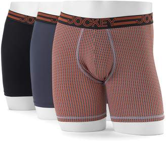 Jockey Men's 3-Pack Active Microfiber Boxer Briefs